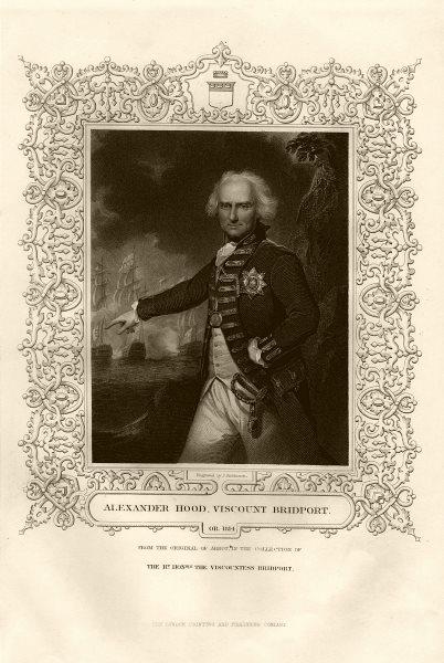 Alexander Hood, 1st Viscount Bridport (1726-1814). After Abbot. TALLIS c1855