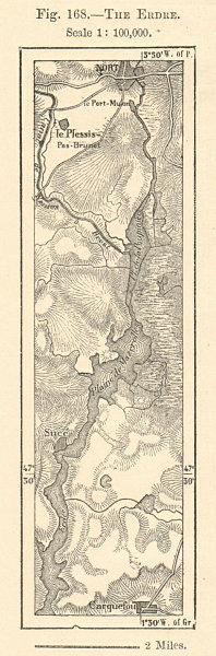 Associate Product Nort-sur-Erdre - Sucé - Carquefou. Loire-Atlantique. Sketch map. SMALL 1885