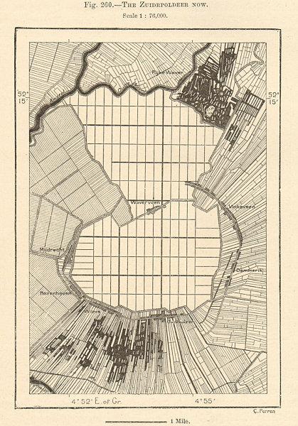 Associate Product The Zuiderpolder (Mijdrecht) now. Waverveen. Netherlands. Sketch map 1885