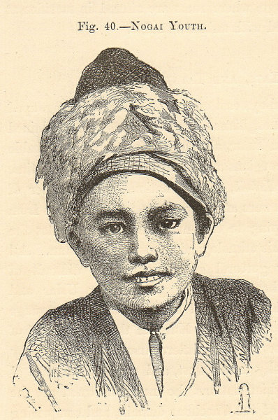 Associate Product Young Nogai boy, Dagestan/eastern Caucasus. Russia. SMALL 1885 old print