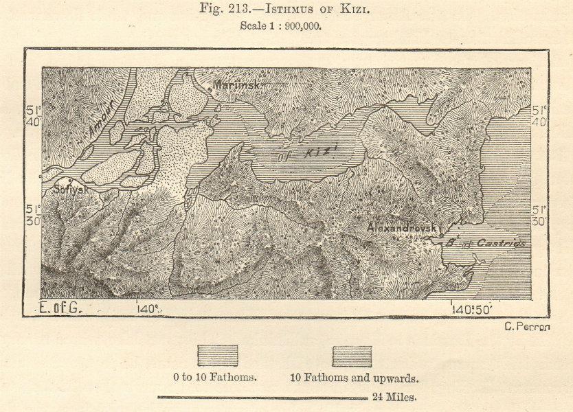 Associate Product Kizi Lake & Isthmus Amur Alexandrovsk De-Kastri. Siberia Russia. Sketch map 1885