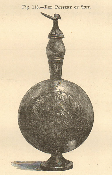 Associate Product Red Pottery of Siut. Asyut Assiut. Egypt. Decorative. SMALL 1885 old print