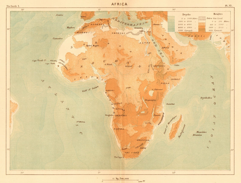 Associate Product Africa 1886 old antique vintage map plan chart