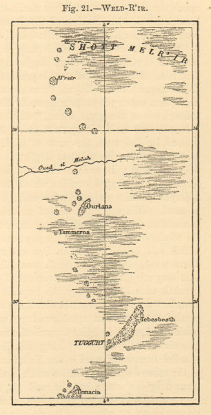 Associate Product Weld-R'ir. Algeria. Touggourt. SMALL sketch map 1886 old antique chart