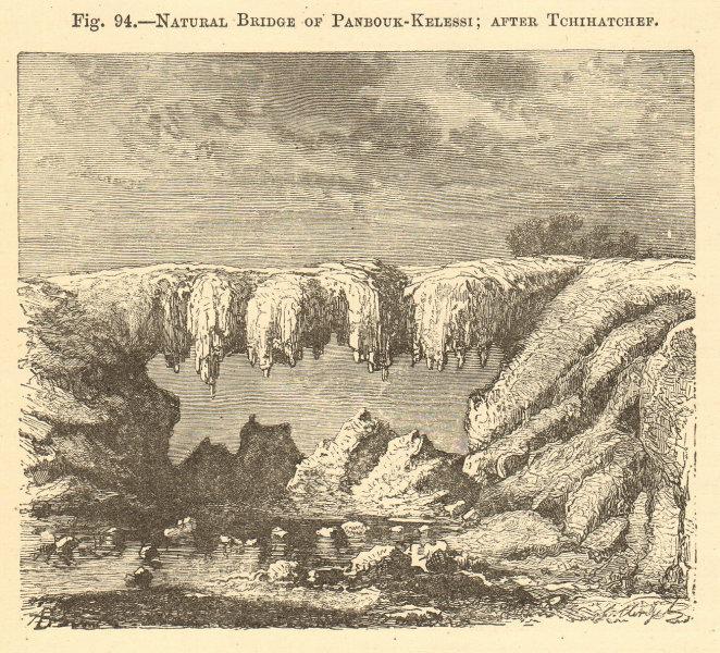 Associate Product Natural Bridge of Panbouk-kelessi. Tchihatchef. Turkey. Izmir. Landscapes 1886