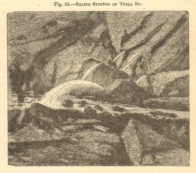Associate Product Saline Springs of Tuzla Su. Turkey. Canakkale. Landscapes 1886 old print