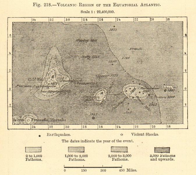 Associate Product Equatorial Atlantic volcanic region. St Peter & Paul Archipelago sketch map 1886