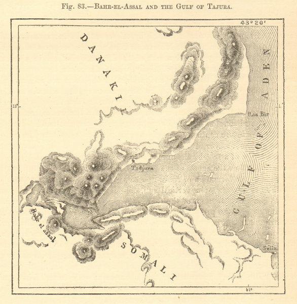 Associate Product Bahr-el-Assal and the Gulf of Tajura. Djibouti. Tadjoura. Sketch map 1886