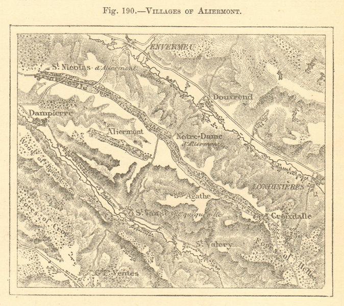 Associate Product Villages of Aliermont. Seine-Maritime. St-Nicolas, Notre-Dame. Sketch map 1886