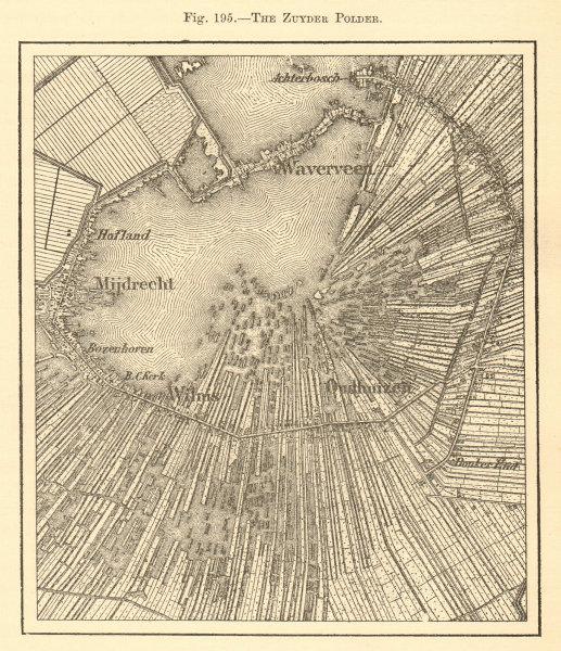 Associate Product Zuyder Polder. Netherlands. Waverveen Mijdrecht Wilms Oudhuizen. Sketch map 1886
