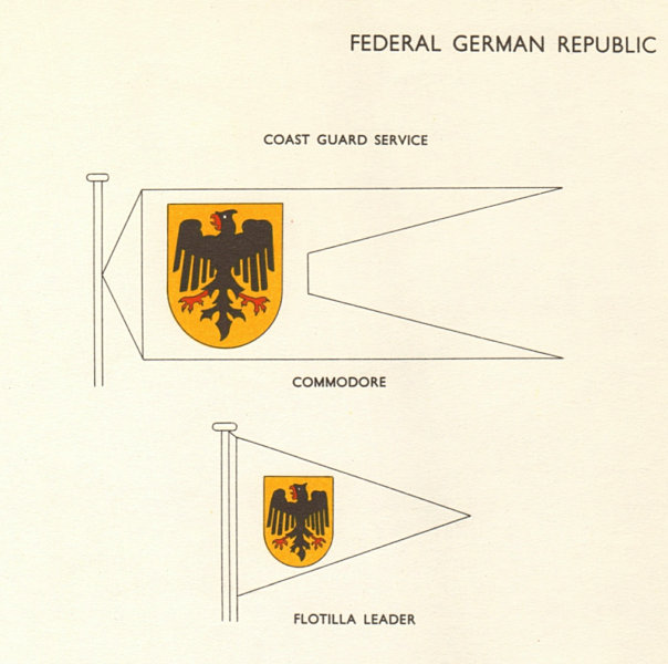 Associate Product FEDERAL REPUBLIC OF GERMANY. Coast Guard Service Commodore Flotilla Leader 1955