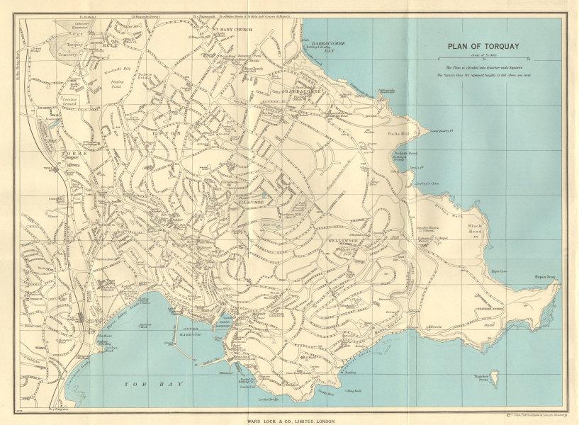 Associate Product TORQUAY vintage town/city plan. Devon. Torbay. WARD LOCK 1963 old vintage map