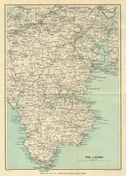 Associate Product SOUTH CORNWALL Lizard Falmouth Truro Falmouth Carrick Roads Camborne 1926 map