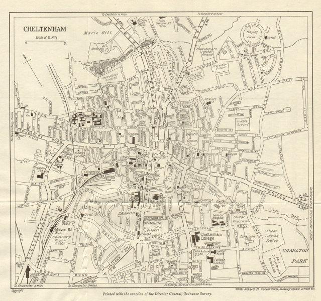 Associate Product CHELTENHAM vintage town/city plan. Gloucestershire. WARD LOCK 1940 old map