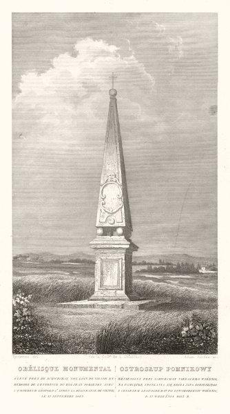 Obelisk. EmperorLeopold I& Jan Sobieski1683 meet. Schwechat, Austria 1839