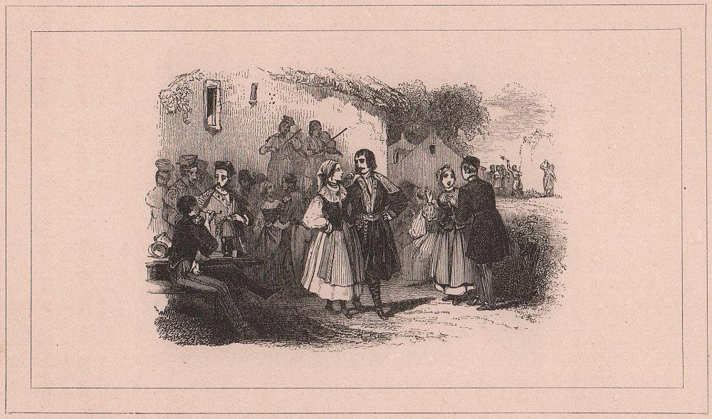 Krakowiak or Cracovienne, Polish folk dance Taniee narodowy ludu polskiego 1839
