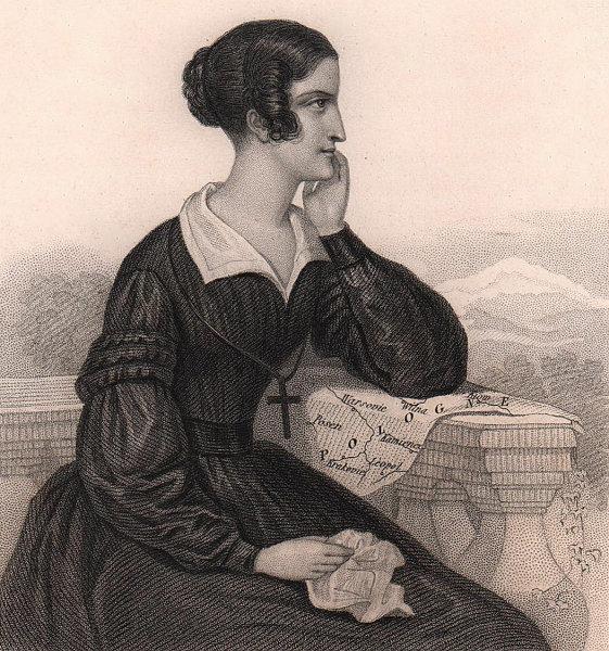 Countess Klaudyna Potocka, née Działyńska. Polish aristocrat 1839 old print