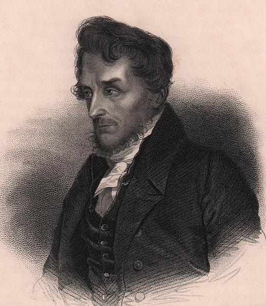 Joachim Lelewel, Polish Historian and Archaeologist 1839 old antique print