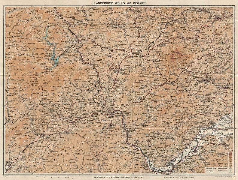 BUILTH & LLANDRINDOD WELLS. Rhayader Presteigne Knighton Radnor Forest 1939 map