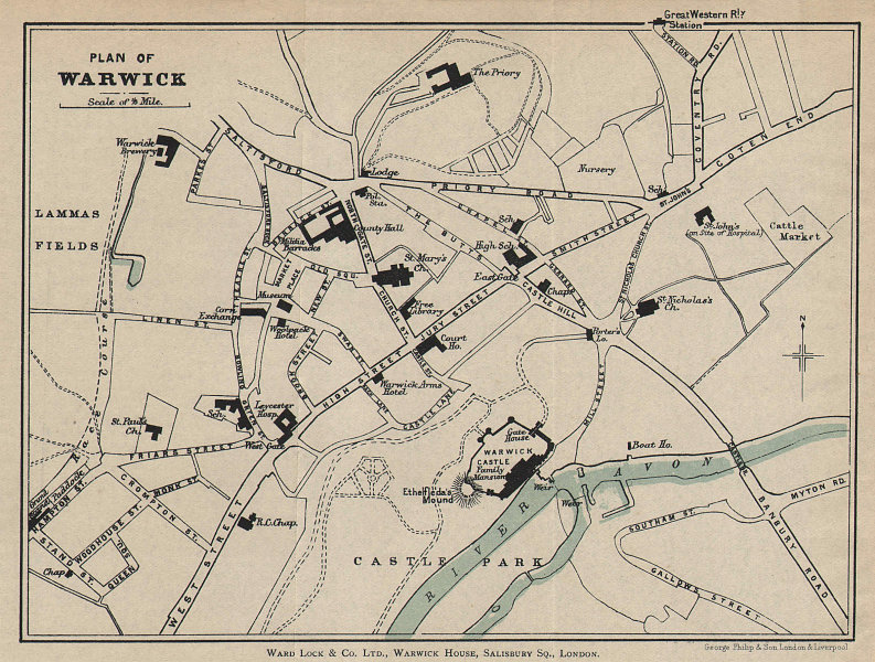 VENTNOR & BONCHURCH vintage town city plan. Isle of Wight. WARD LOCK 1900 map