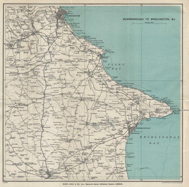 YORKSHIRE COAST Scarborough Filey Flambrough Head Bridlington WARD LOCK 1935 map