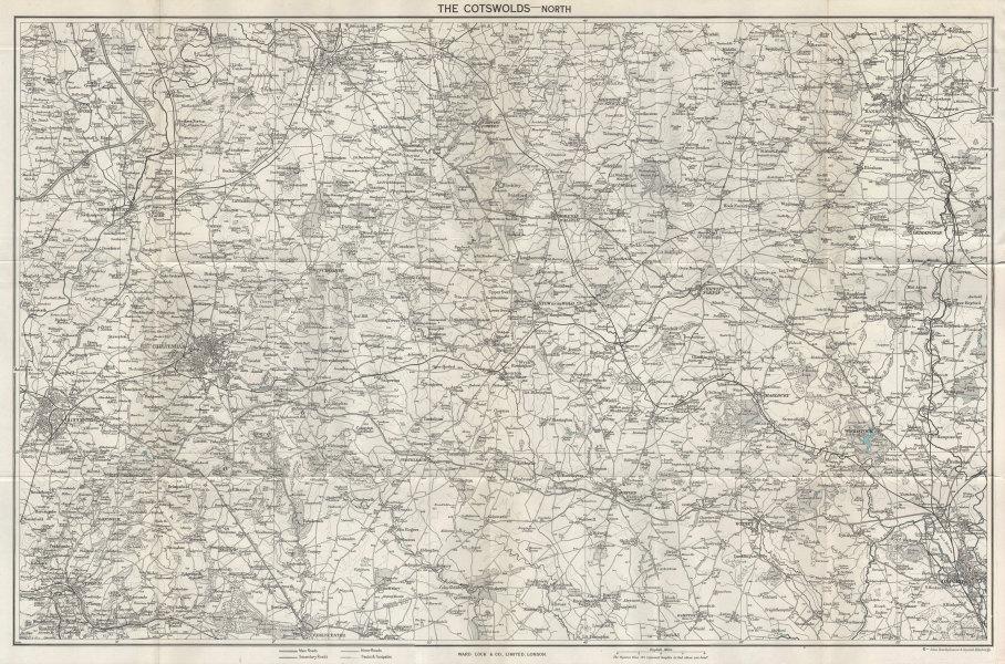 NORTH COTSWOLDS Gloucester Cheltenham Oxford Banbury. WARD LOCK 1964 map