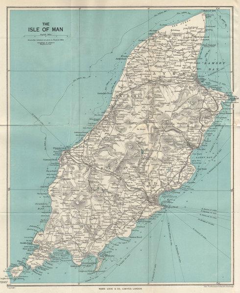 THE ISLE OF MAN vintage tourist map. Douglas Ramsey Peel. WARD LOCK 1962