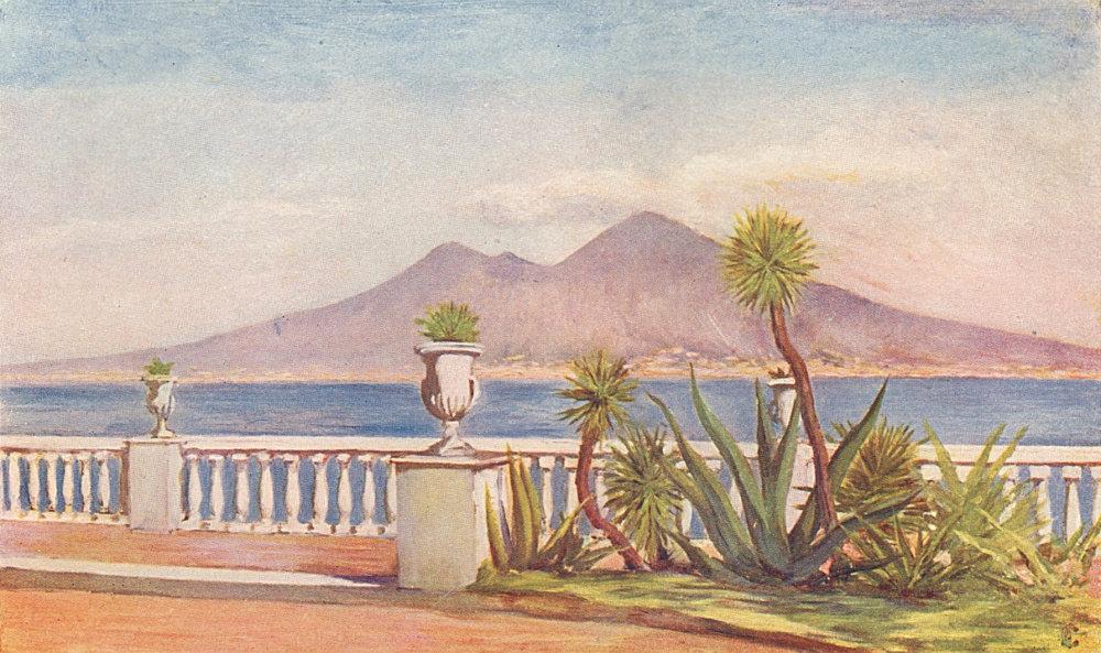 NAPOLI. 'The Villa Gallotti, Posillipo' by Augustine Fitzgerald. Naples 1904