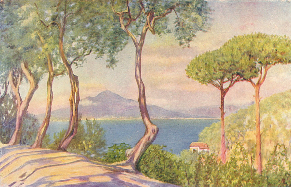 NAPOLI. 'On the road to Massa' by Augustine Fitzgerald. Naples 1904 old print