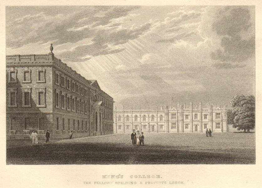 King's College. The Fellows' Building & Provost's Lodge, Cambridge. LE KEUX 1841