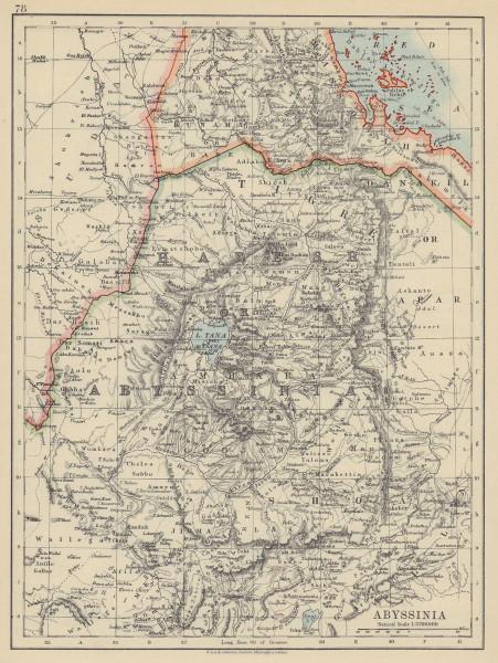 ABYSSINIA. Tigre Amhara Shoa Godjam. Ethiopia Eritrea. JOHNSTON 1910 old map