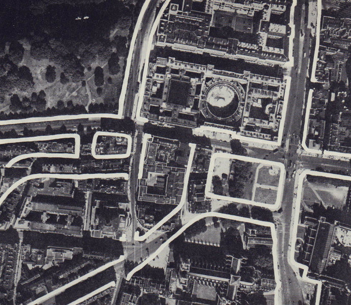 Parliament Square road proposal. Square extended. RAWLINSON 1946 old print