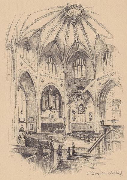 St. Dunstan-in-the-West church interior. Fleet Street. City of London 1904