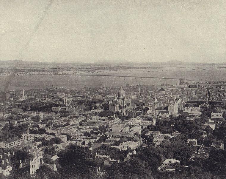 Montreal. Quebec. STODDARD 1895 old antique vintage print picture