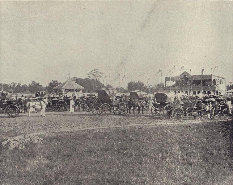 Hanoi racecourse. Vietnam. STODDARD 1895 old antique vintage print picture