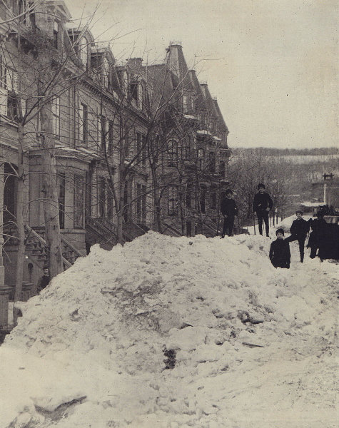 Montreal under the snow. Quebec. STODDARD 1895 old antique print picture