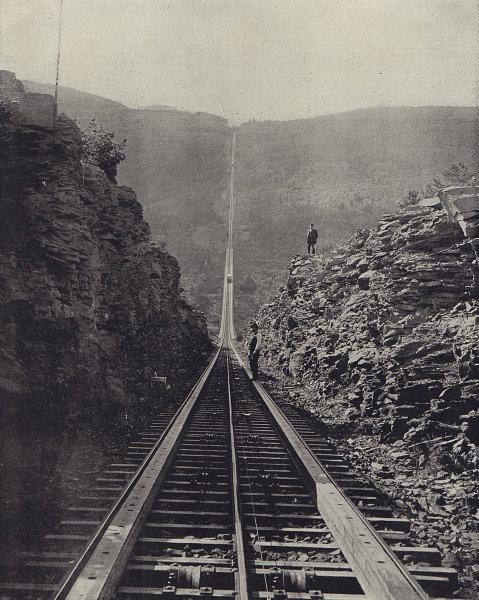Otis Elevating Railroad, Catskill mountains, New York. STODDARD 1895 old print