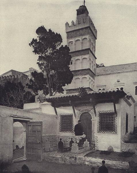 Mosque of Abderrahman, Algiers, Algeria. STODDARD 1895 old antique print