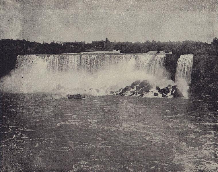 The southern side, Niagara Falls. North America. STODDARD 1895 old print
