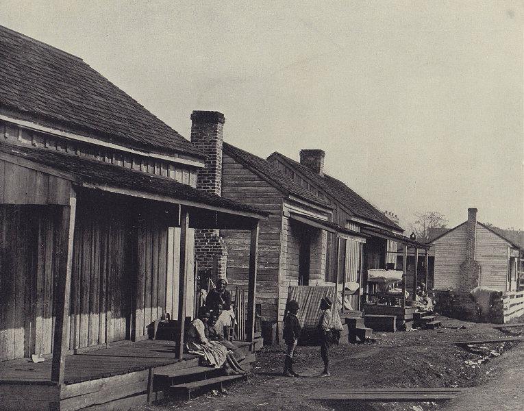 Negro houses, Martinique (or Thomasville, Georgia). STODDARD 1895 old print