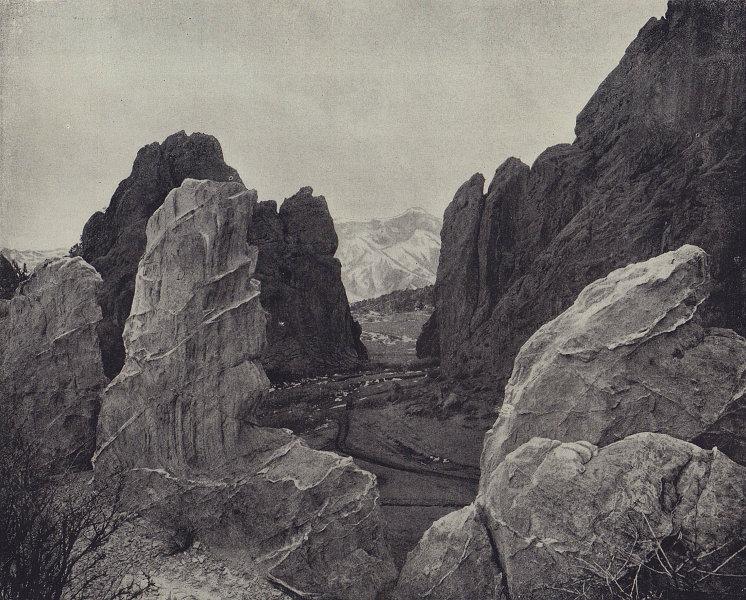 The Garden of the Gods, Colorado Springs. STODDARD 1895 old antique print