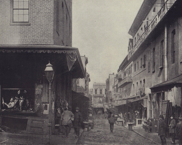 Chinese quarter in San Francisco. California. STODDARD 1895 old antique print
