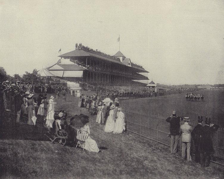 Washington Park Race Track, Chicago. Illinois. STODDARD 1895 old antique print