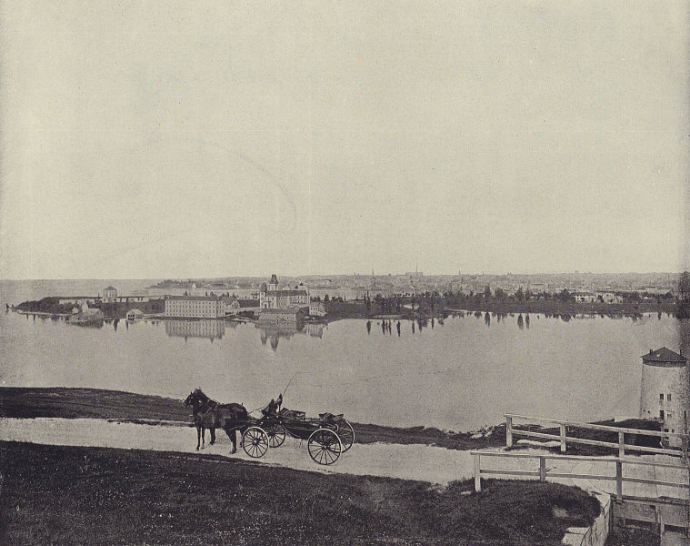 Kingston, Ontario, Canada. STODDARD 1895 old antique vintage print picture