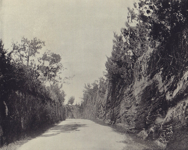 The road cut by convicts, Bermuda. Atlantic Islands. STODDARD 1895 old print