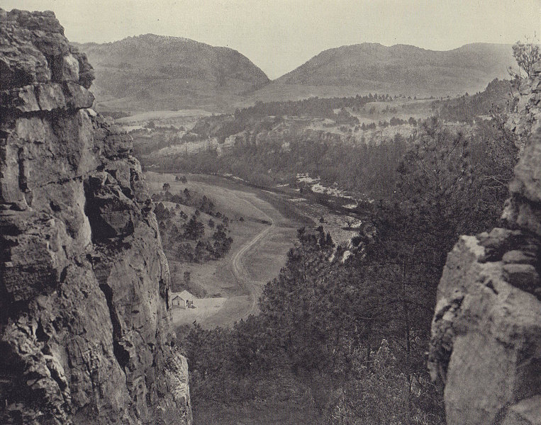 The Sioux Pass, Echo Canyon, South Dakota. STODDARD 1895 old antique print