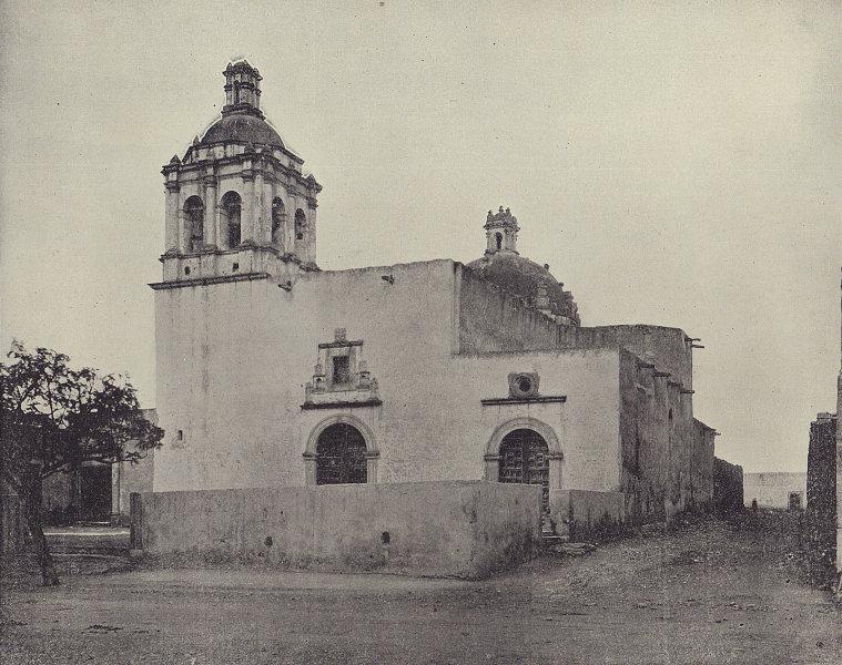 Templo de San Francisco, Chihuahua, Mexico. STODDARD 1895 old antique print