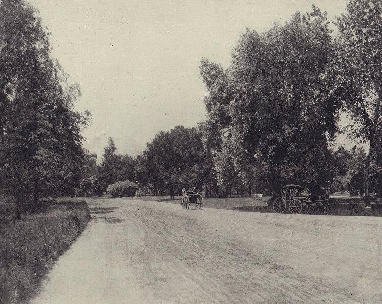 Washington Park, Chicago. USA. STODDARD 1895 old antique vintage print picture