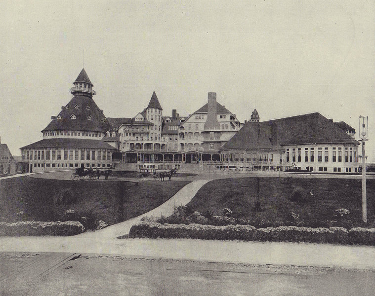 Hotel Coronado, San Diego, California. STODDARD 1895 old antique print picture