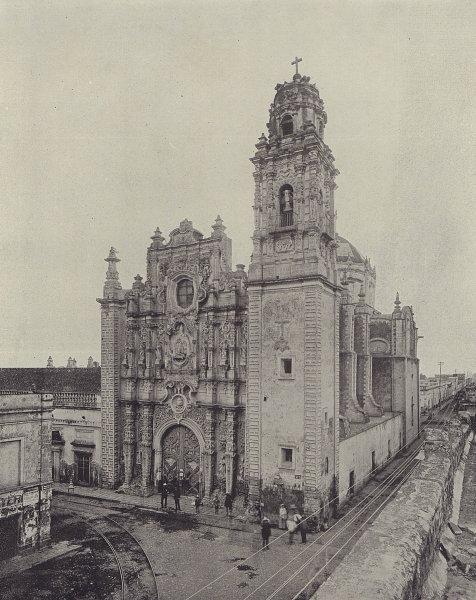 Parroquia de la Santisima Trinidad, Mexico City. STODDARD 1895 old print